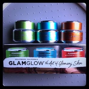 GlamGlow Mud Mask Set 0.5 oz bottles NWOT